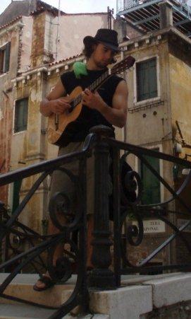 Busking in Venice, 2006