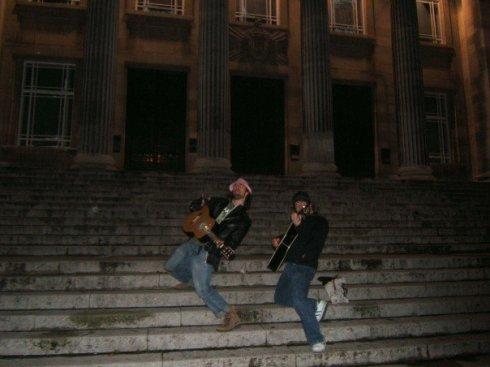 Busking in Leeds, 2006