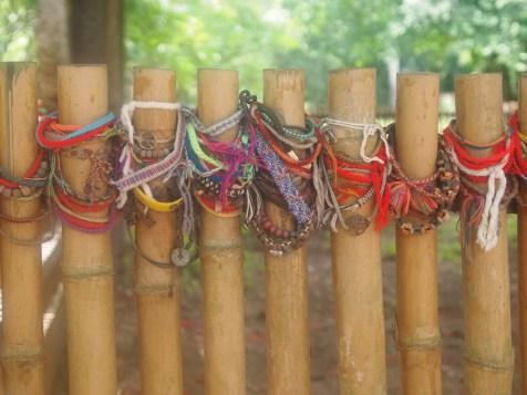 Bracelets left by the mass grave