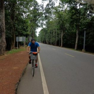 Cycling around Angkor