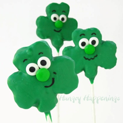 rice krispies treats shamrocks
