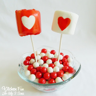 valentines marshmallow pops