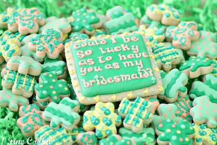 bridesmaid.cookies.stpatricksday