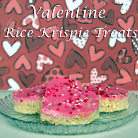 Rice Krispie Treat Hearts