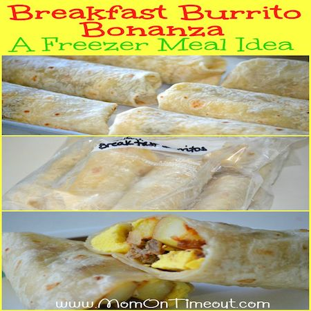 Freezer Breakfast Burrito