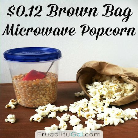 brown bag microwave popcorn