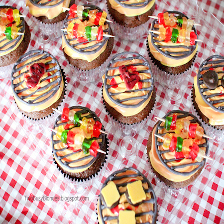 mini bbq cupcake