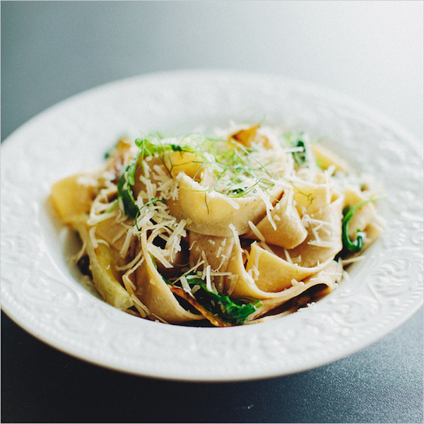 pasta with fennel, arugula and lemon