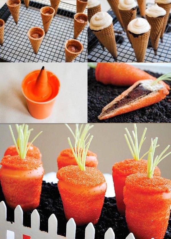 sparkly carrot cupcake