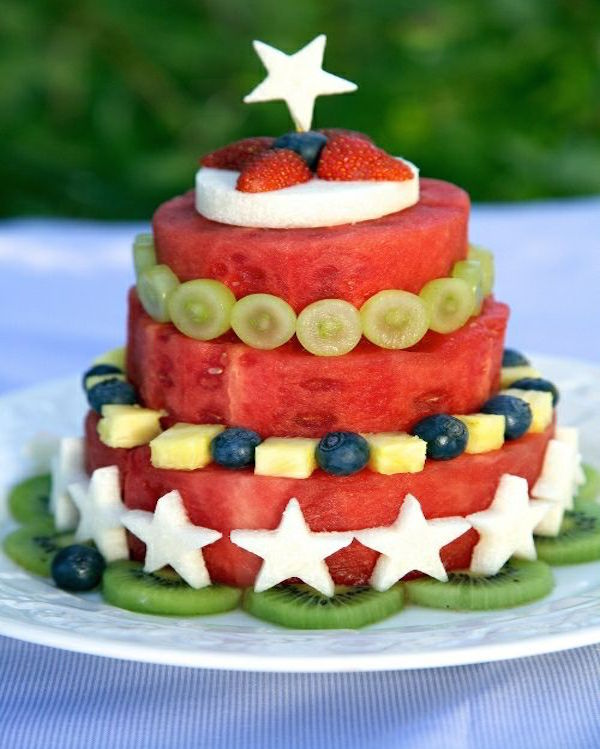 fresh fruit watermelon cake