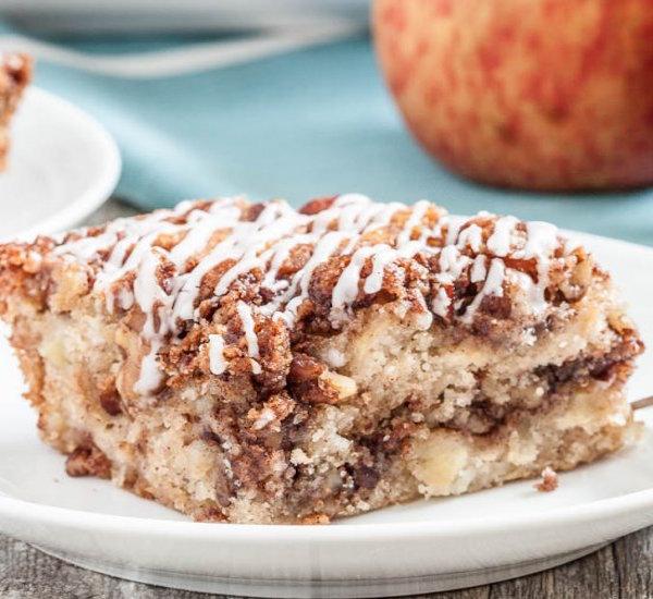 one bowl apple streusal coffee cake