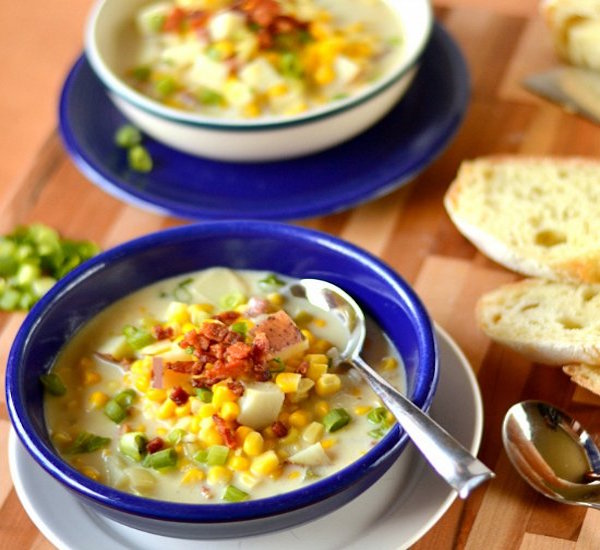 cream of corn soup with bacon