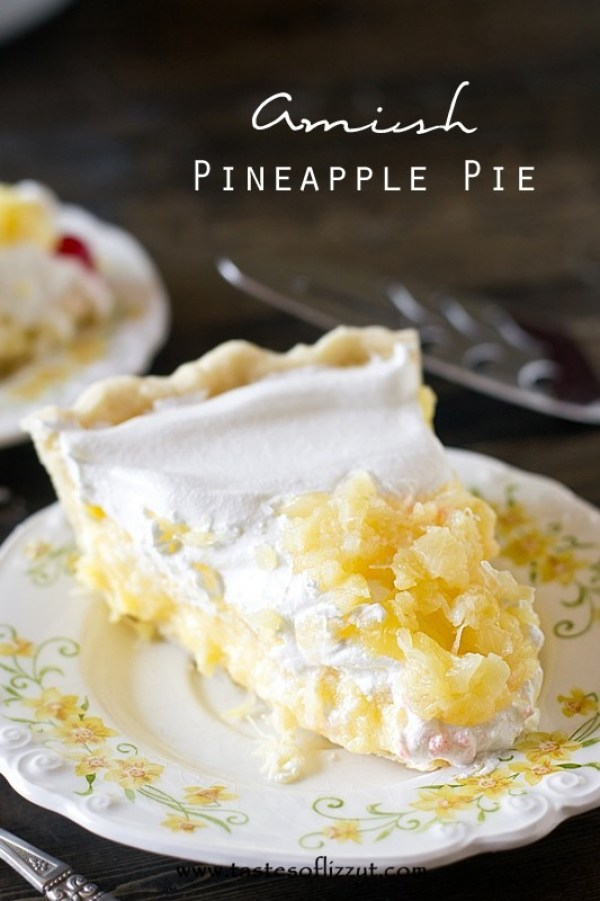 Amish Pineapple Pie from Taste of Lizzy T's
