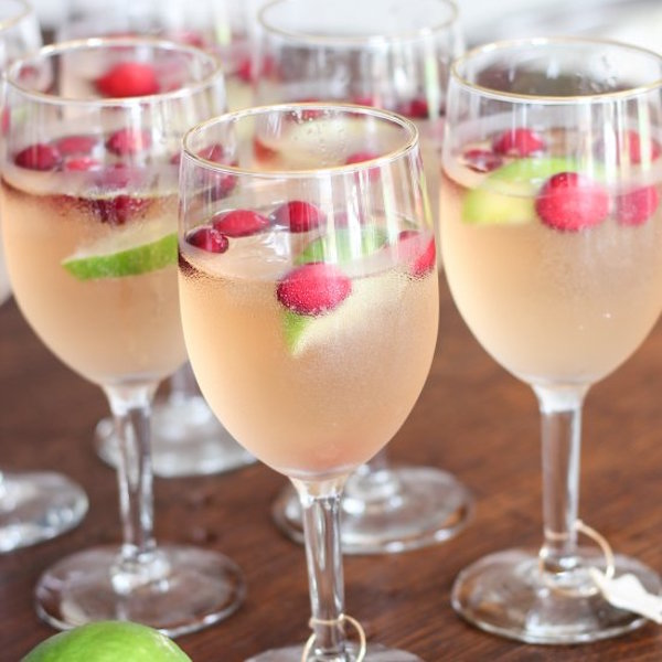 cranberry raspberry lime mocktail