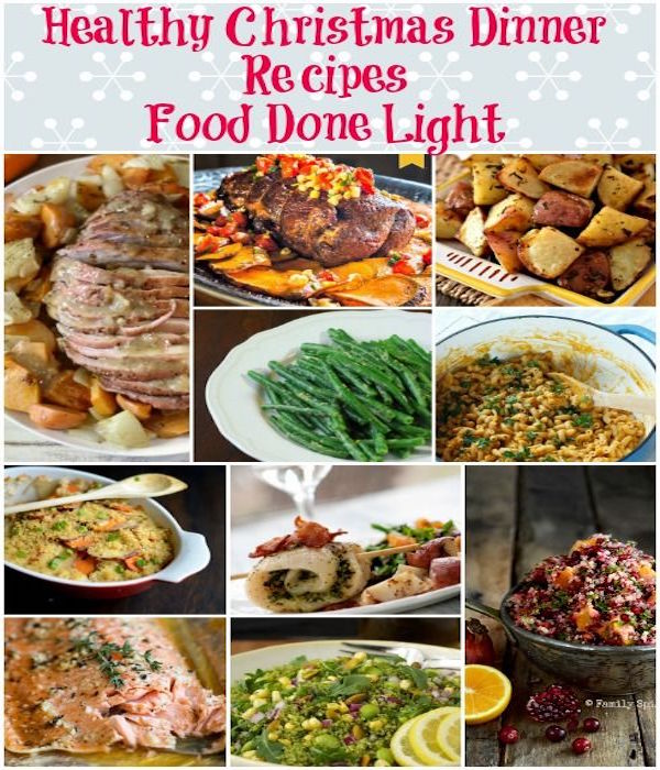 healthy christmas light dinner recipes