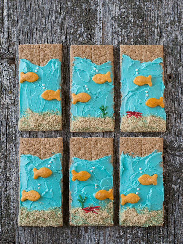 Under The Sea Graham Crackers Edible Crafts