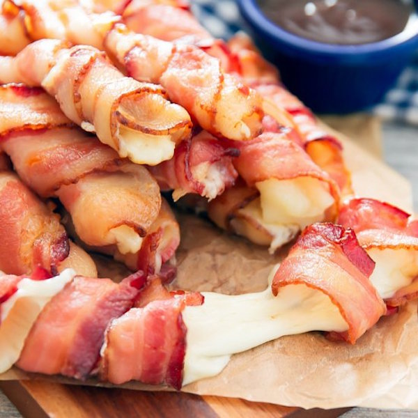 bacon wrapped cheese stick