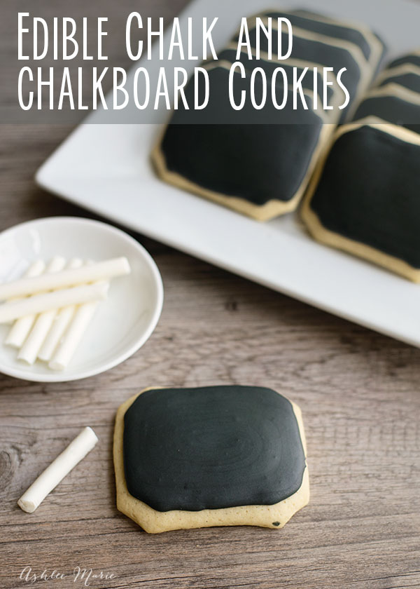 edible chalk and chalkboard cookies