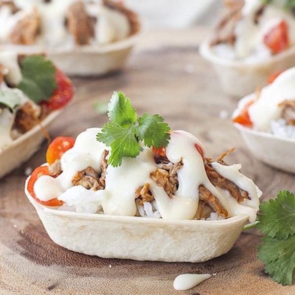 mini beef burrito bowls