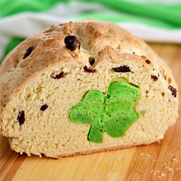 hidden shamrock irish soda bread