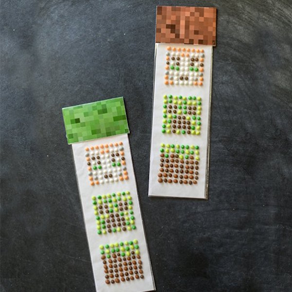 homemade minecraft candy buttons