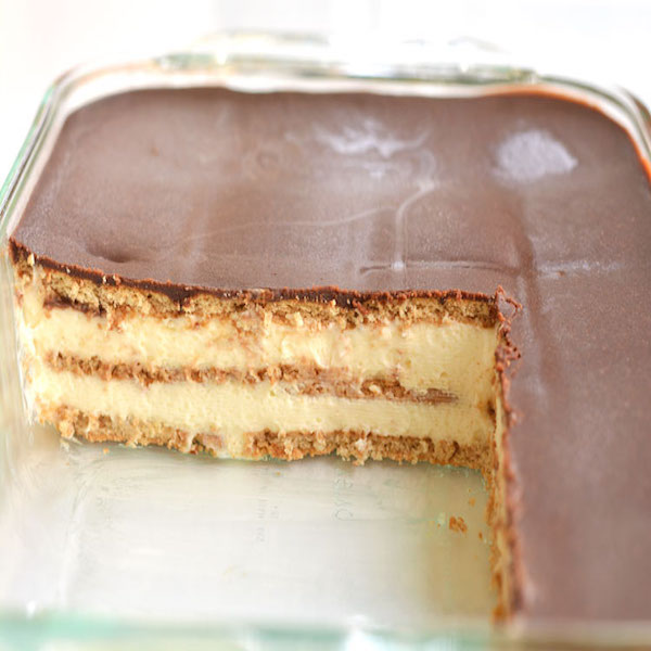 no bake chocolate eclair