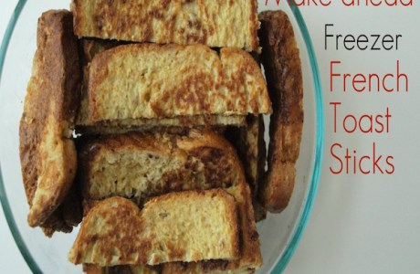Healthier Make Ahead Frozen French Toast Sticks