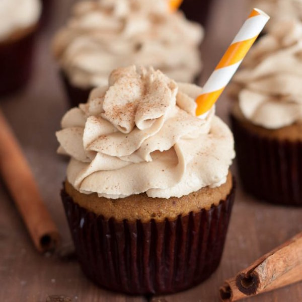 Gluten-Free Pumpkin Spice Latte Cupcakes with Coffee Frosting