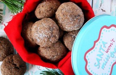 Mochaccino Crinkle Cookies