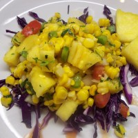 Roasted Corn and Pineapple Salad with Island Vinaigrette