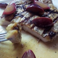 Grilled Pork Chops with Muscadine Zinfandel Sauce