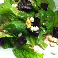Roasted Beet Salad with Pomegranate Vinaigrette