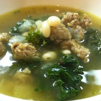 Kale with Sausage & White Beans Soup
