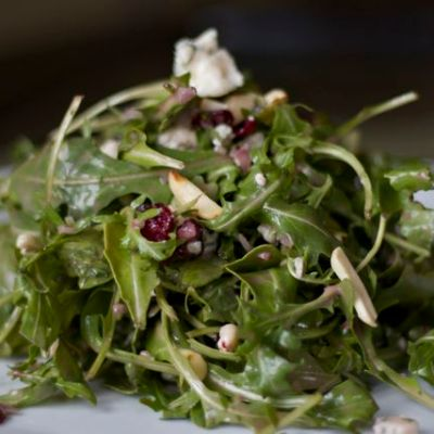 Arugula salad with pomegranate seeds