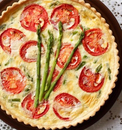 Quiche with whole wheat pie crust