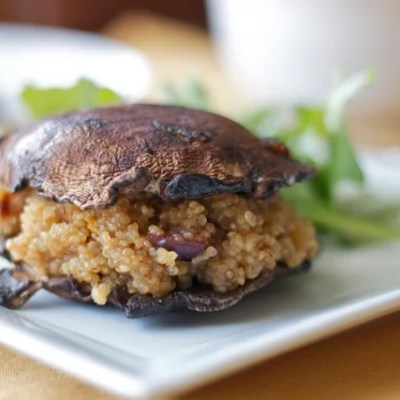 Meatless Mondays: Quinoa 'burgers' with mushroom 'buns'
