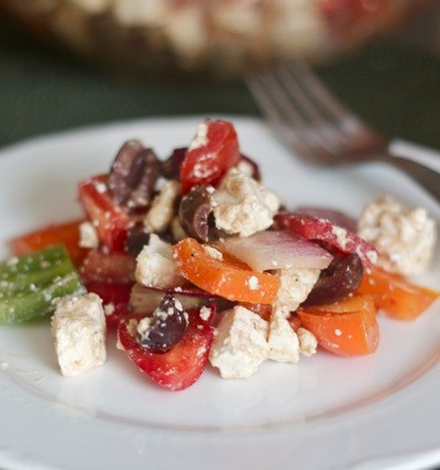 For the love of feta (and the best way to cut a bell pepper)