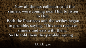 Jesus ate with sinners making the Pharisees indignant