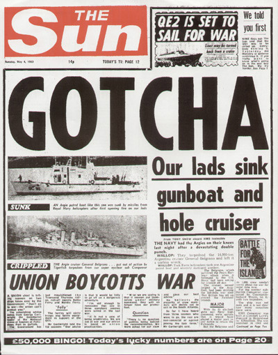 Memorable headlines: GOTCHA