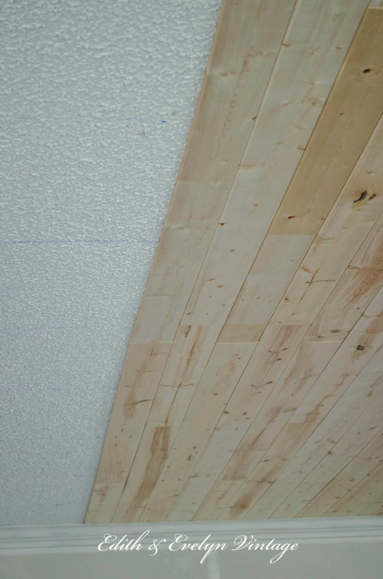 How to plank a popcorn ceiling How to cover old wood paneling