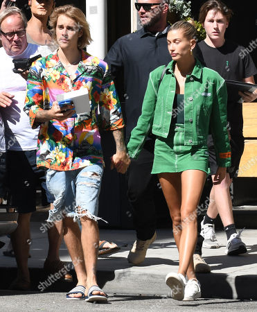 Justin Bieber Hailey Baldwin out about Los Stock Photos  Exclusive     Justin Bieber and Hailey Baldwin