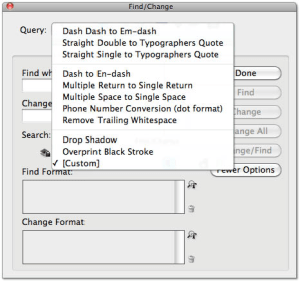 InDesign Find & Replace