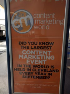 Content Marketing World 2016. Cleveland, OH