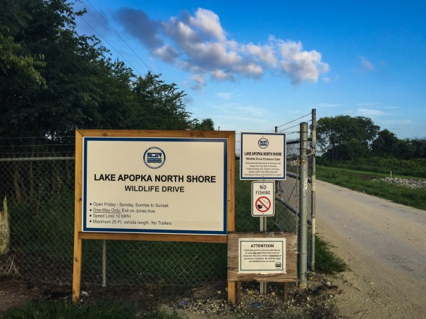 Lake Apopka Wildlife Drive Entrance
