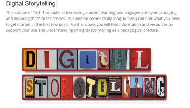 iOS digital storytelling edtech