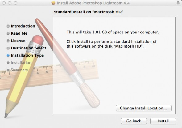 Install Adobe Photoshop Lightroom 4.4