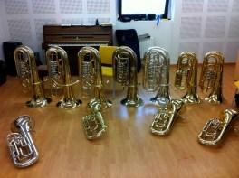 El aula de tuba del Conservatorio de Gijón
