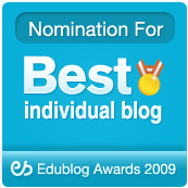 Best Individual Blog Nominee, 2009 Edublog Awards