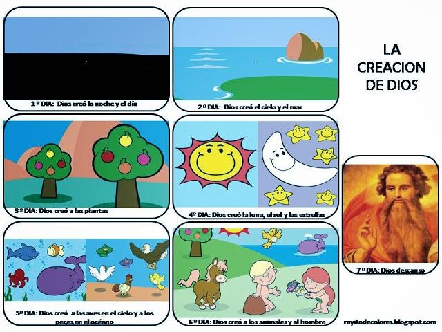 La creaci n de dios para imprimir educanimando for En 7 dias dios creo el mundo
