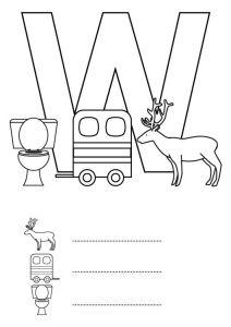 letra-w-dibujo-para-colorear-e-imprimir